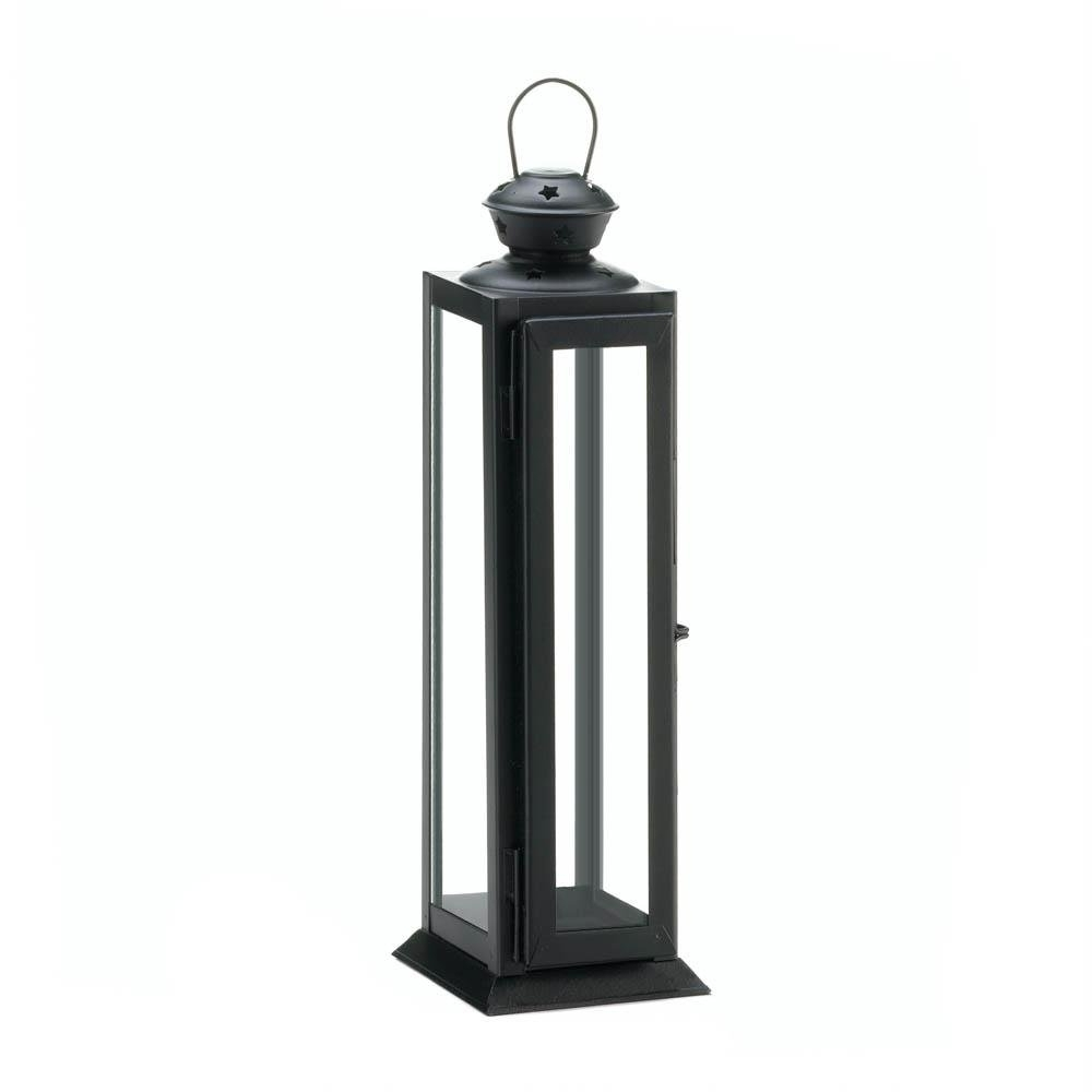 Black Metal Candle Lantern, Rustic Decorative Lanterns For Candles Intended For Best And Newest Outdoor Lanterns And Candles (View 10 of 20)