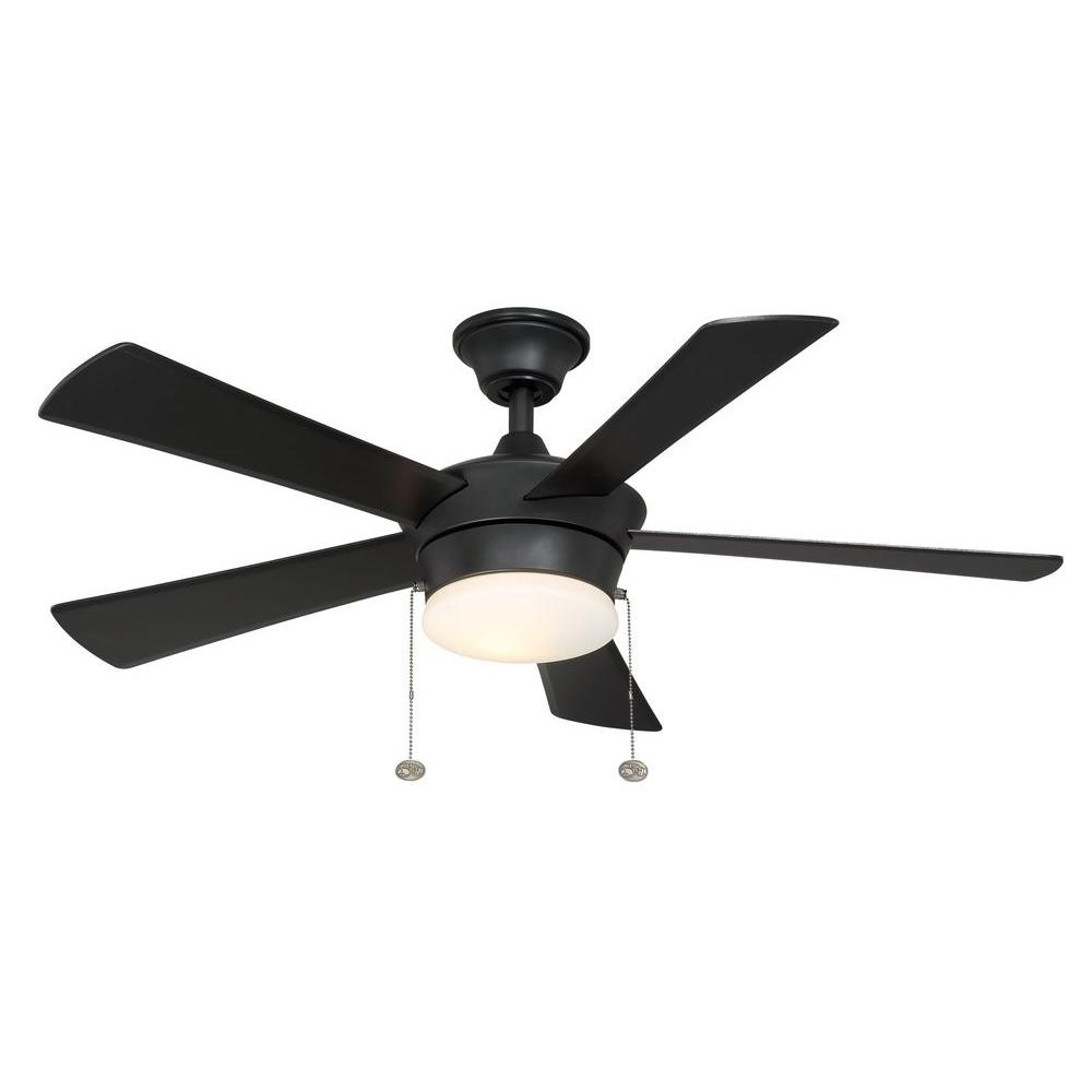 Black Outdoor Ceiling Fans With Light Regarding Preferred Hampton Bay Corrado 44 In (View 12 of 20)