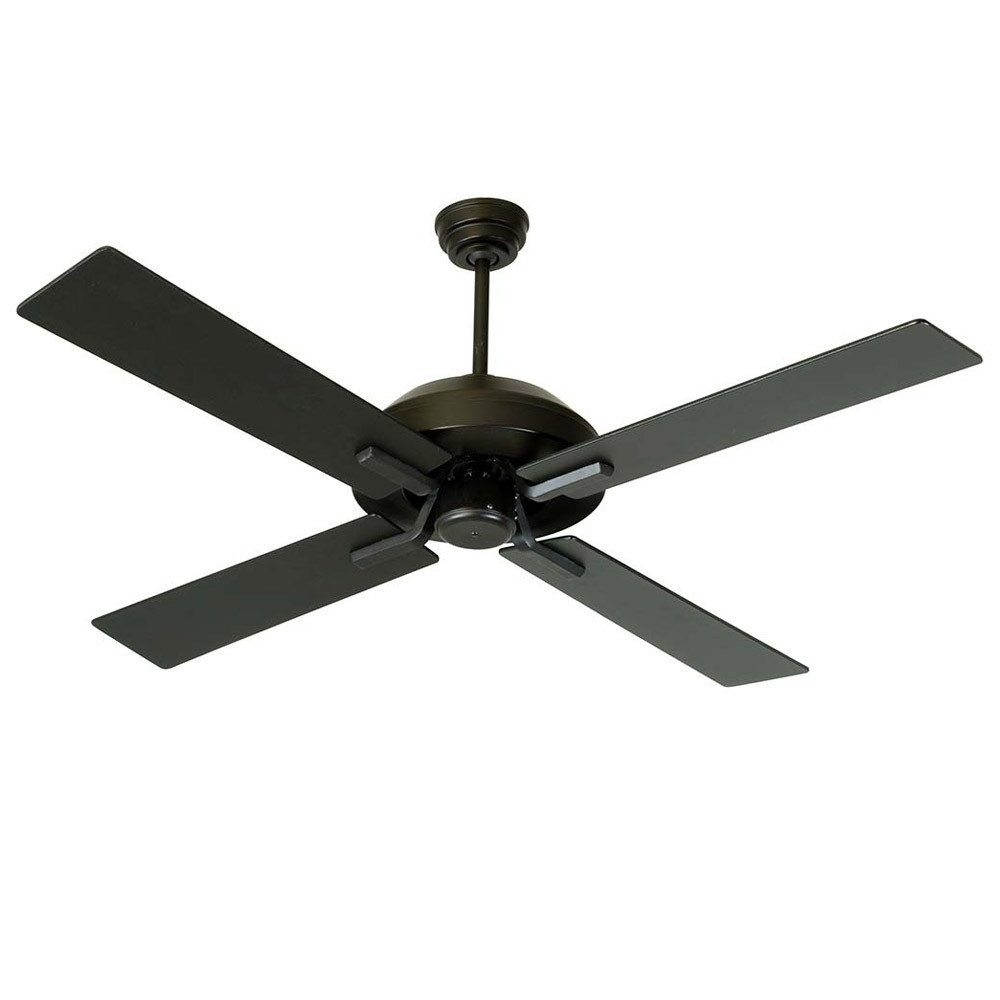 Black Outdoor Ceiling Fans With Light Within Famous South Beach Fancraftmade Sb52fb4 52