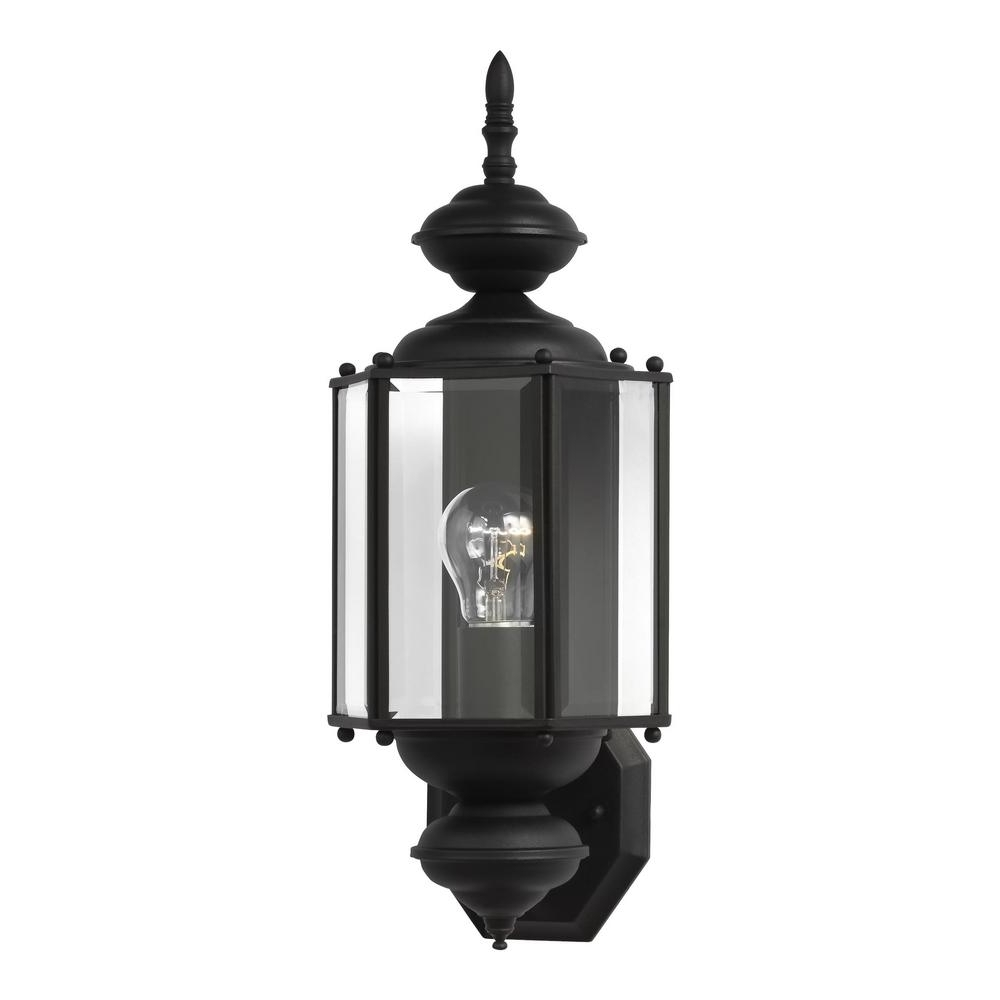 Black Outdoor Lanterns In 2018 Sea Gull Lighting Classico 1 Light Black Outdoor Wall Fixture  (View 5 of 20)
