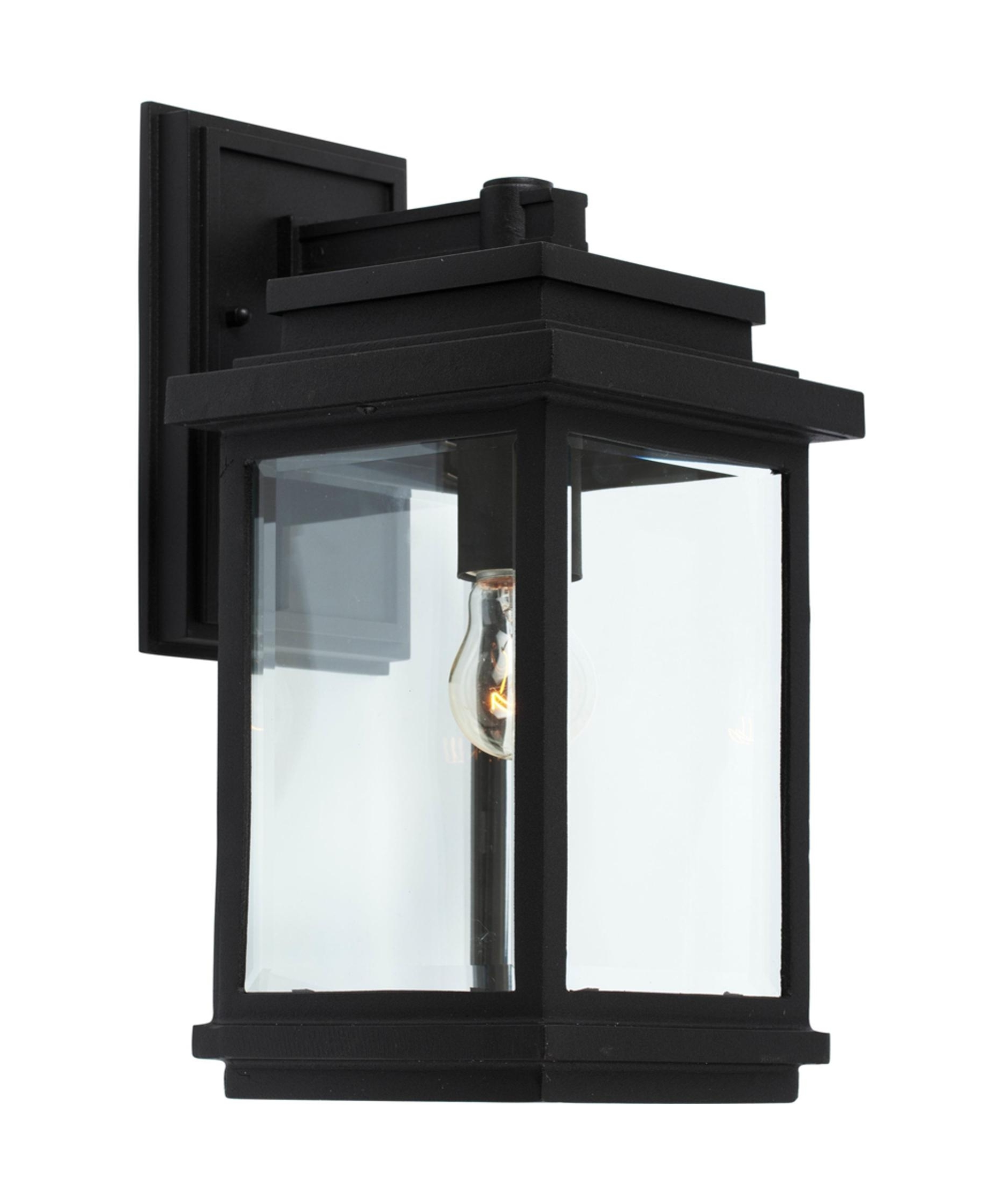 Black Outdoor Lanterns Inside 2018 Artcraft Ac8290 Fremont 7 Inch Wide 1 Light Outdoor Wall Light (View 13 of 20)
