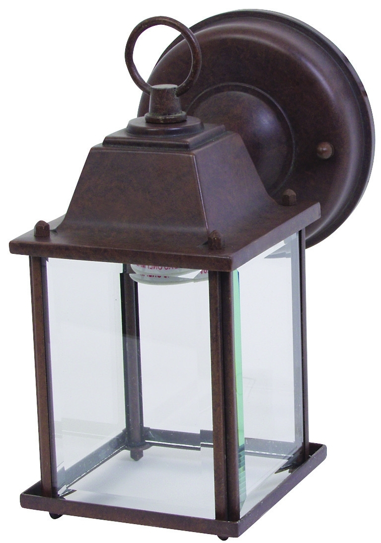 Boston Harbor Al1037 Rb3L 1 Light Rustic Brown Wall Lantern Throughout Most Up To Date Rustic Outdoor Electric Lanterns (View 1 of 20)