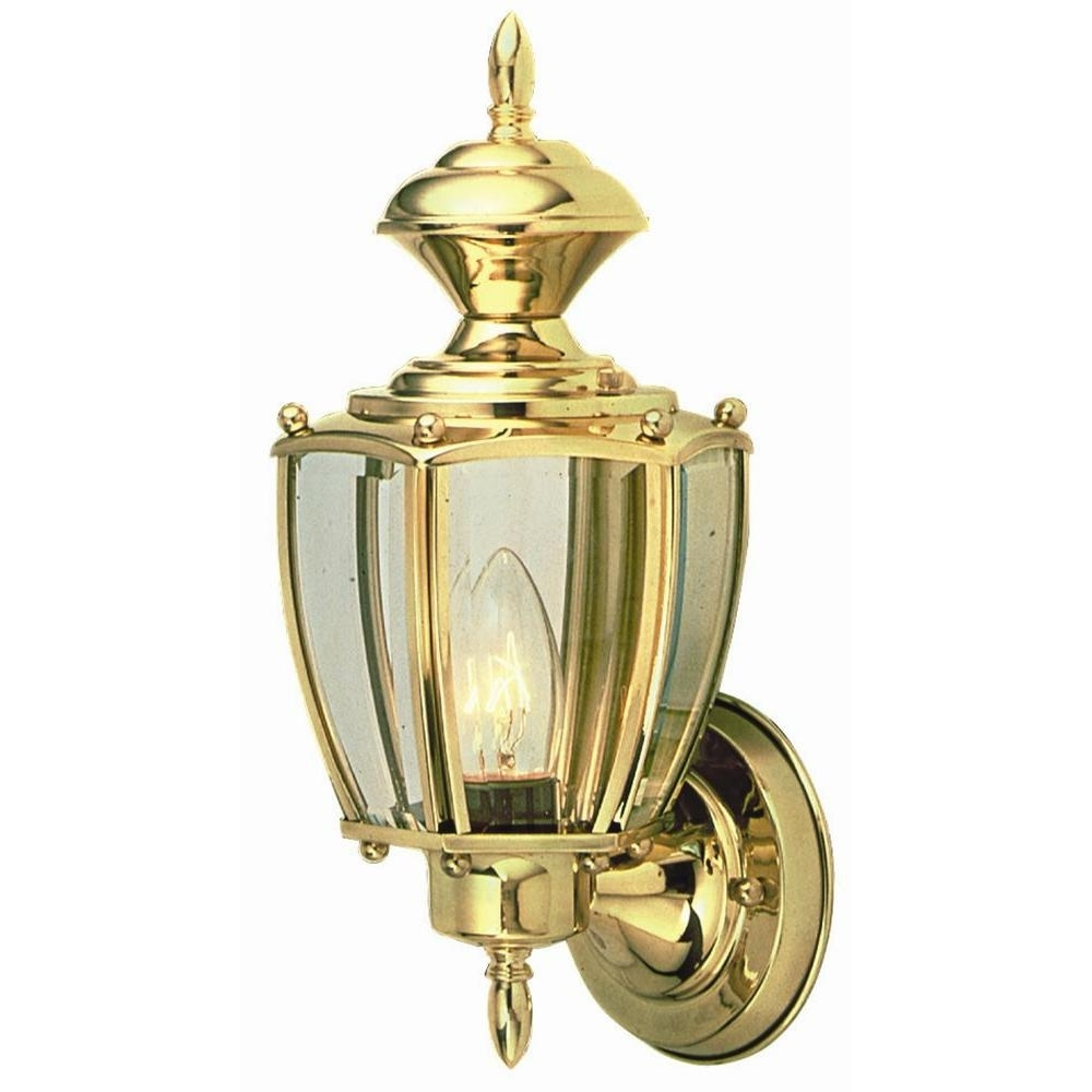 Brass Outdoor Lanterns For Recent Design House Jackson Solid Brass Outdoor Wall Mount Uplight (View 7 of 20)