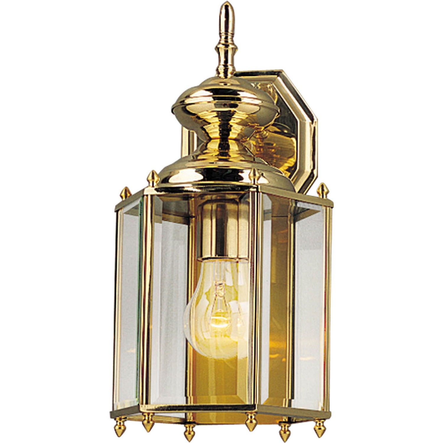 Brass Outdoor Lanterns With Regard To Well Known Progress Lighting P5832 10: Brassguard Lanterns Polished Brass One (Gallery 9 of 20)