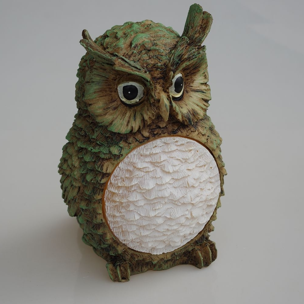 Brightinwd Solar Resin Owl Light Outdoor Led Decorative Lights New Inside Well Known Resin Outdoor Lanterns (Gallery 18 of 20)