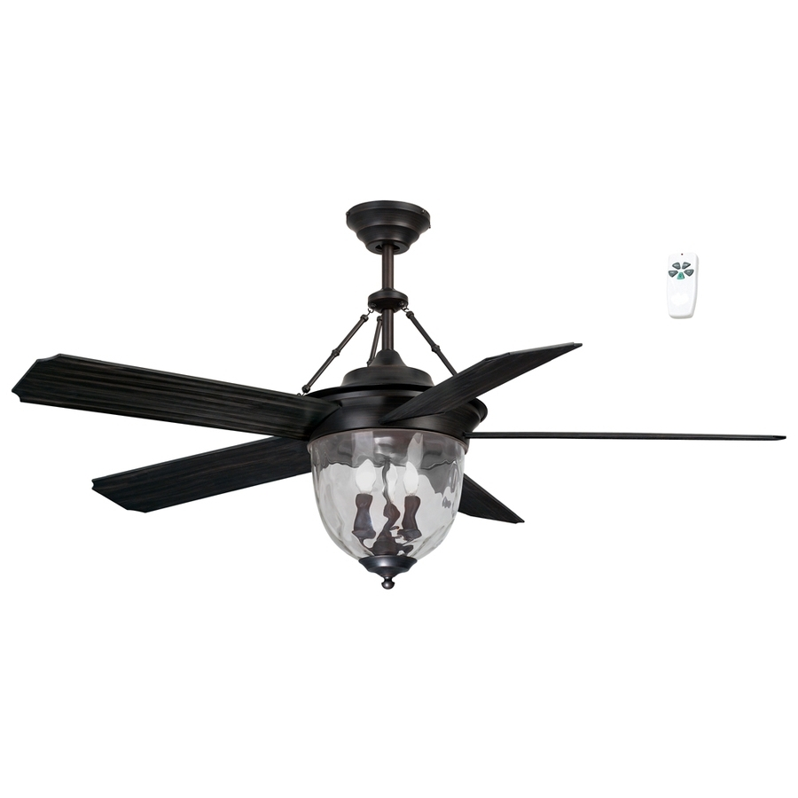 Bronze Outdoor Ceiling Fans With Light Within Latest Shop Litex 52 In Antique Bronze Indoor/outdoor Downrod Mount Ceiling (View 6 of 20)
