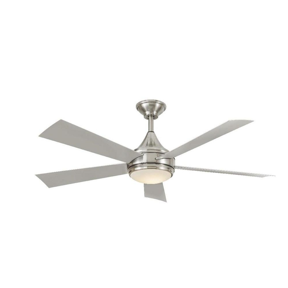 Brushed Nickel Outdoor Ceiling Fans Pertaining To 2018 Home Decorators Collection Hanlon 52 In (View 5 of 20)