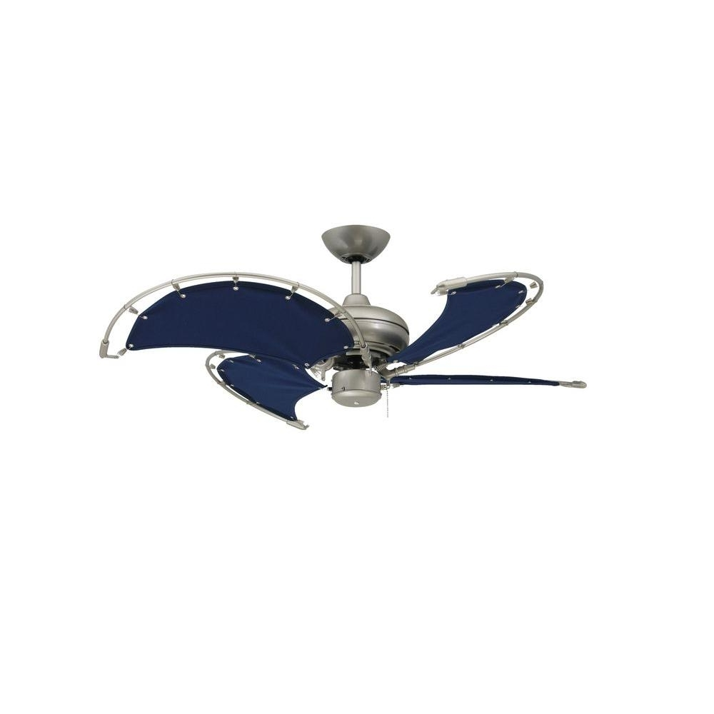 Brushed Nickel Outdoor Ceiling Fans With Light Intended For Latest Troposair Voyage 40 In (View 7 of 20)