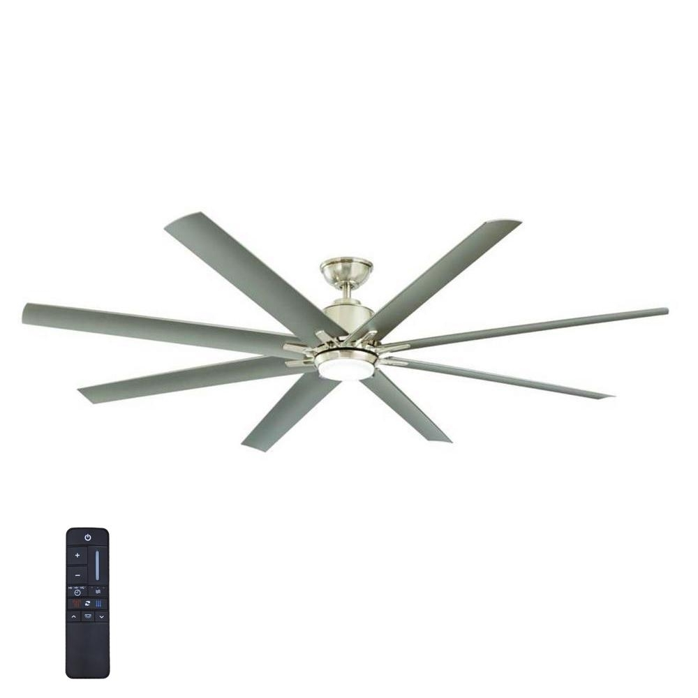 Brushed Nickel Outdoor Ceiling Fans With Light With Regard To 2019 Home Decorators Collection Kensgrove 72 In (View 8 of 20)