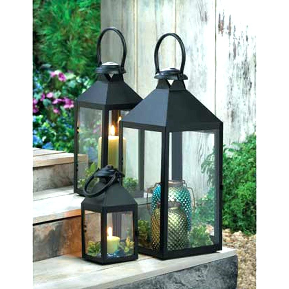 Candles ~ Large Garden Candle Lanterns Wholesale Lantern Cheap Regarding Favorite Metal Outdoor Lanterns (Gallery 8 of 20)