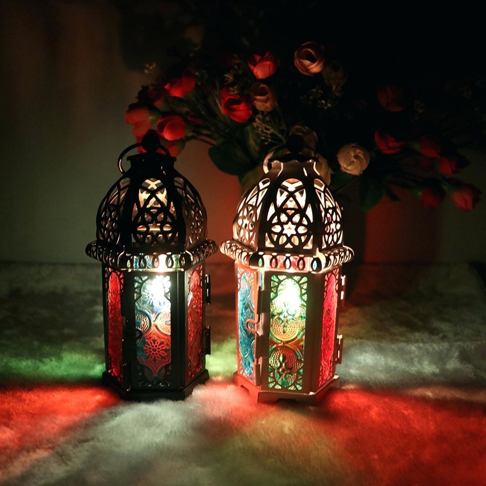 Candles ~ Mini Candle Lanterns Mosaic Lantern Holders And Candles Regarding Best And Newest Outdoor Mosaic Lanterns (View 11 of 20)