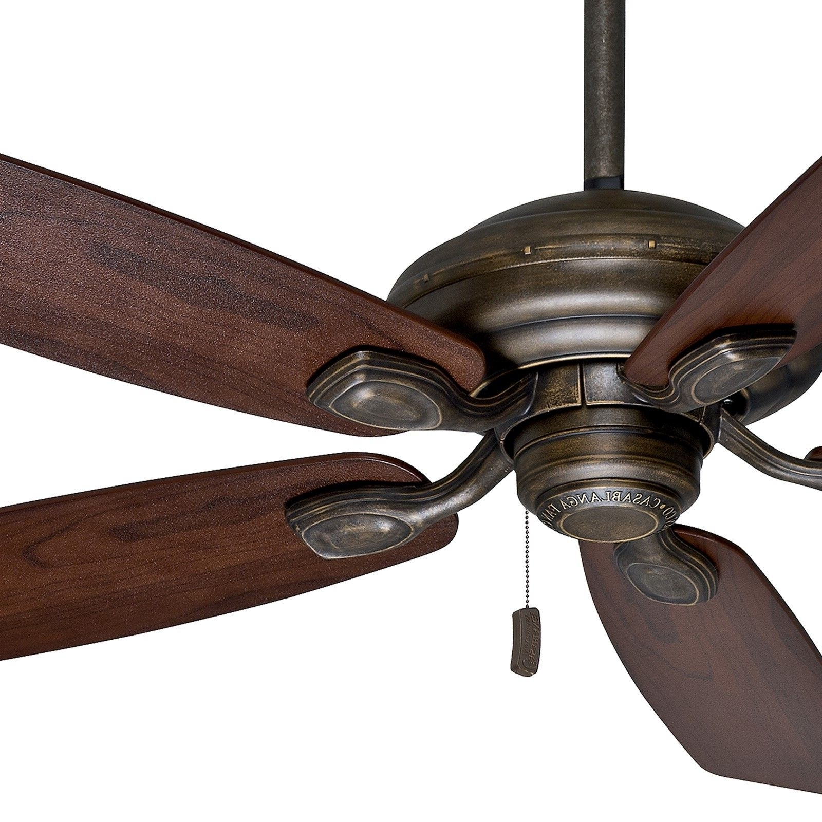 "Casablanca 52"" Aged Bronze Damp Rated Outdoor Ceiling Fan For Inside Fashionable Damp Rated Outdoor Ceiling Fans (View 4 of 20)"