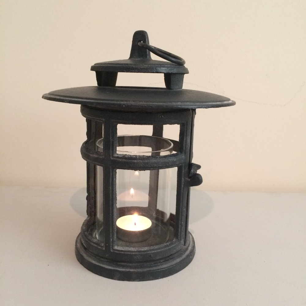 Cast Iron Japanese Style Round Lantern From Ruddick Garden Gifts Regarding Most Current Outdoor Cast Iron Lanterns (Gallery 3 of 20)