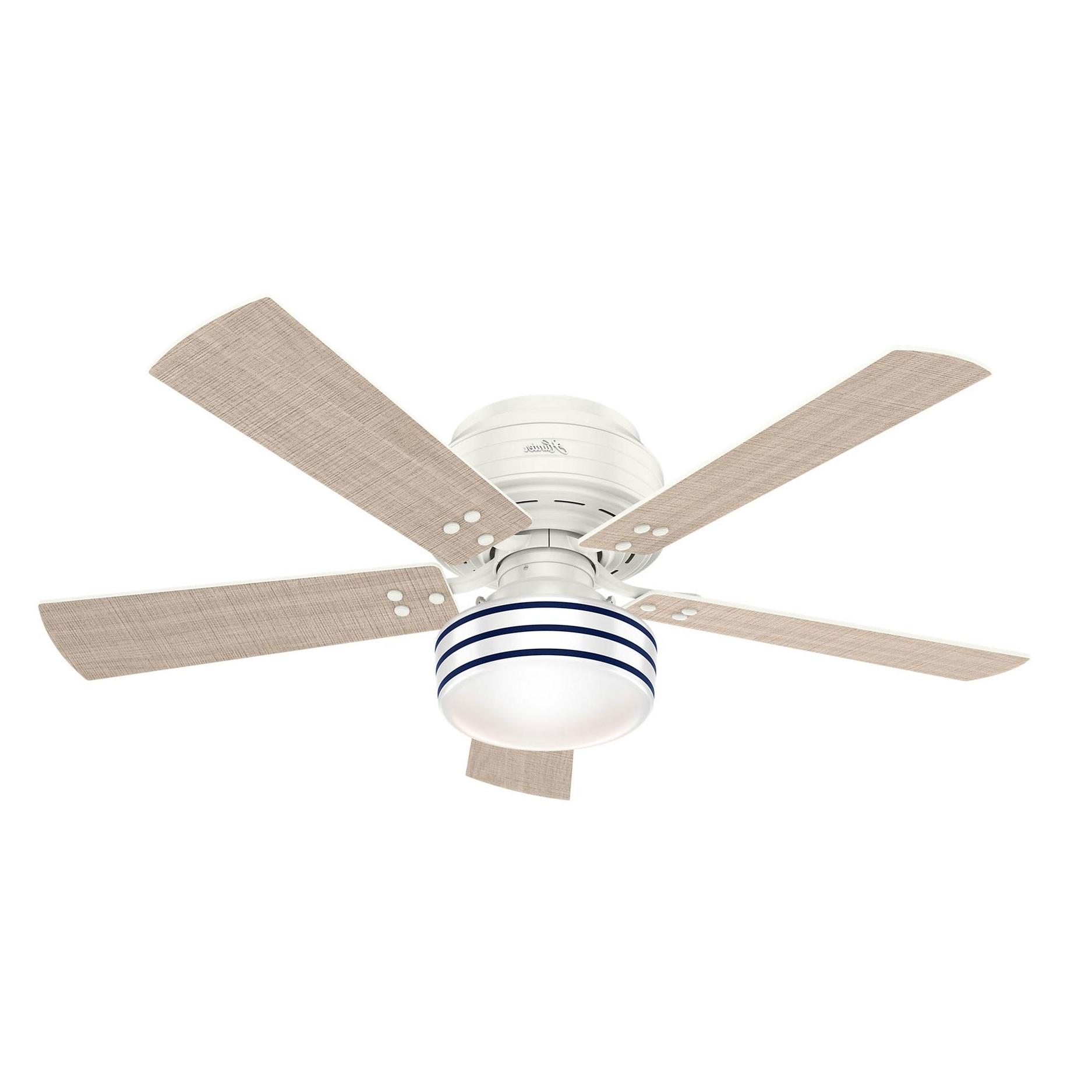 Cedar Key Low Profile Indoor/outdoor Ceiling Fan With Light Within Most Popular Hunter Indoor Outdoor Ceiling Fans With Lights (View 11 of 20)