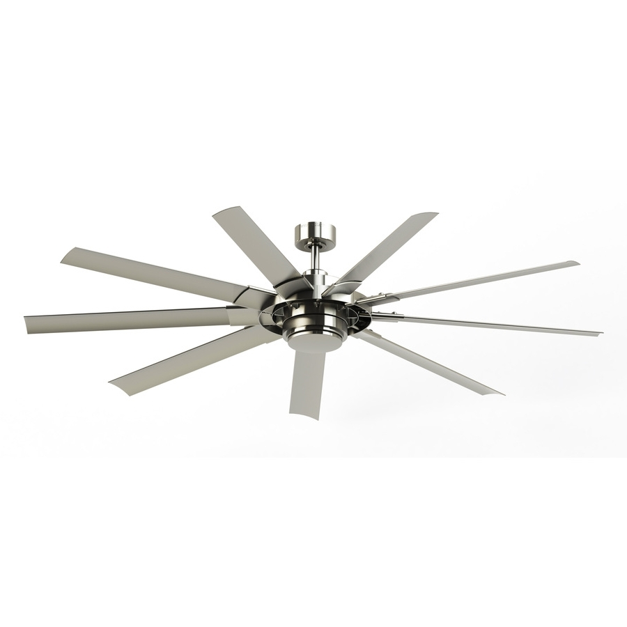 Ceiling Fan: Best Brushed Nickel Ceiling Fan Ideas Decorative Intended For Trendy 36 Inch Outdoor Ceiling Fans (View 10 of 20)