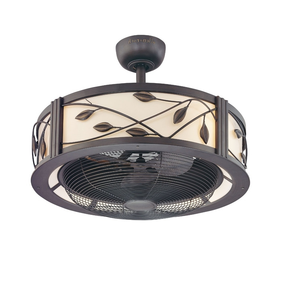 Ceiling Fan: Unique Caged Ceiling Fan Design Flush Mount Caged Inside Latest Enclosed Outdoor Ceiling Fans (View 4 of 20)