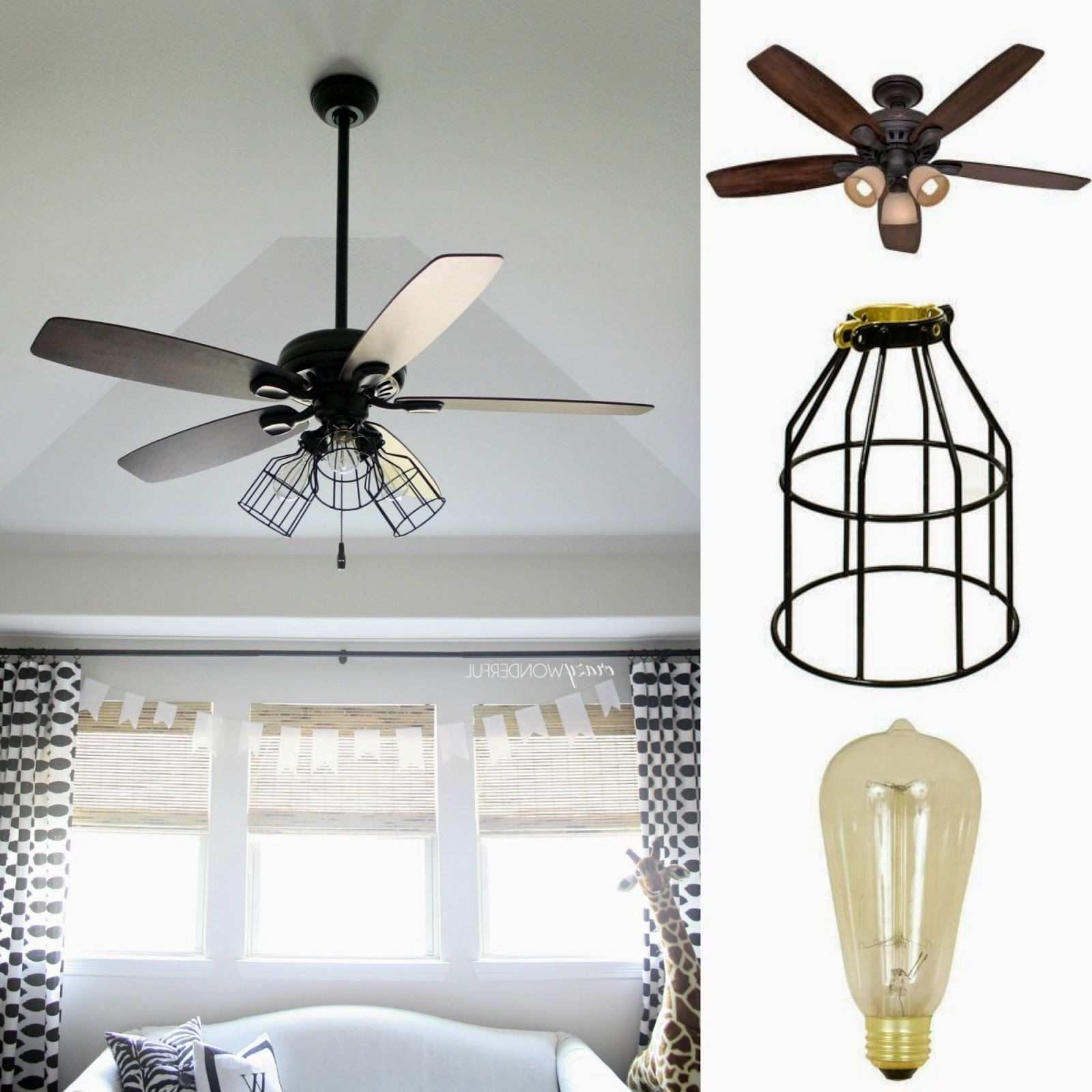 Ceiling Fan With Mason Jar Lights Lovely Dark Aged Bronze Outdoor For Most Popular Outdoor Ceiling Fans With Mason Jar Lights (View 2 of 20)