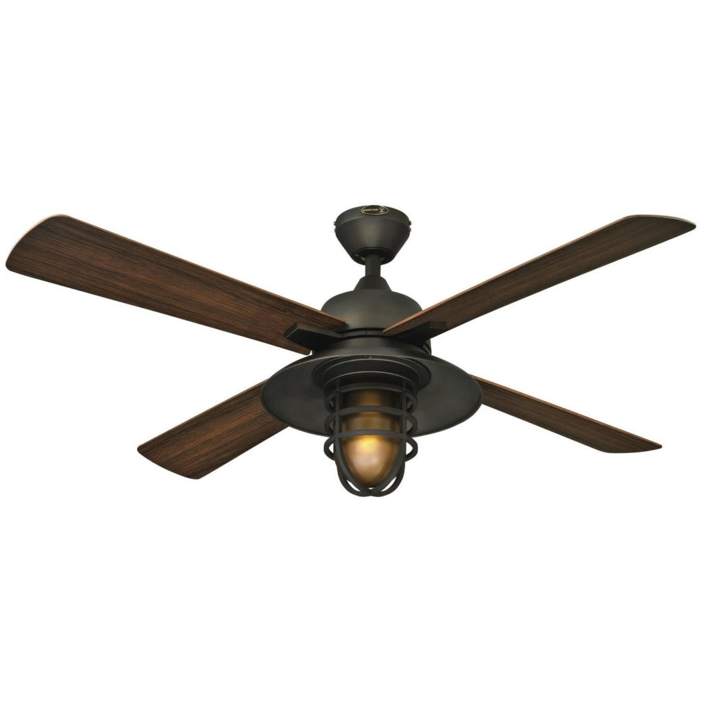 Featured Photo of Hugger Outdoor Ceiling Fans With Lights