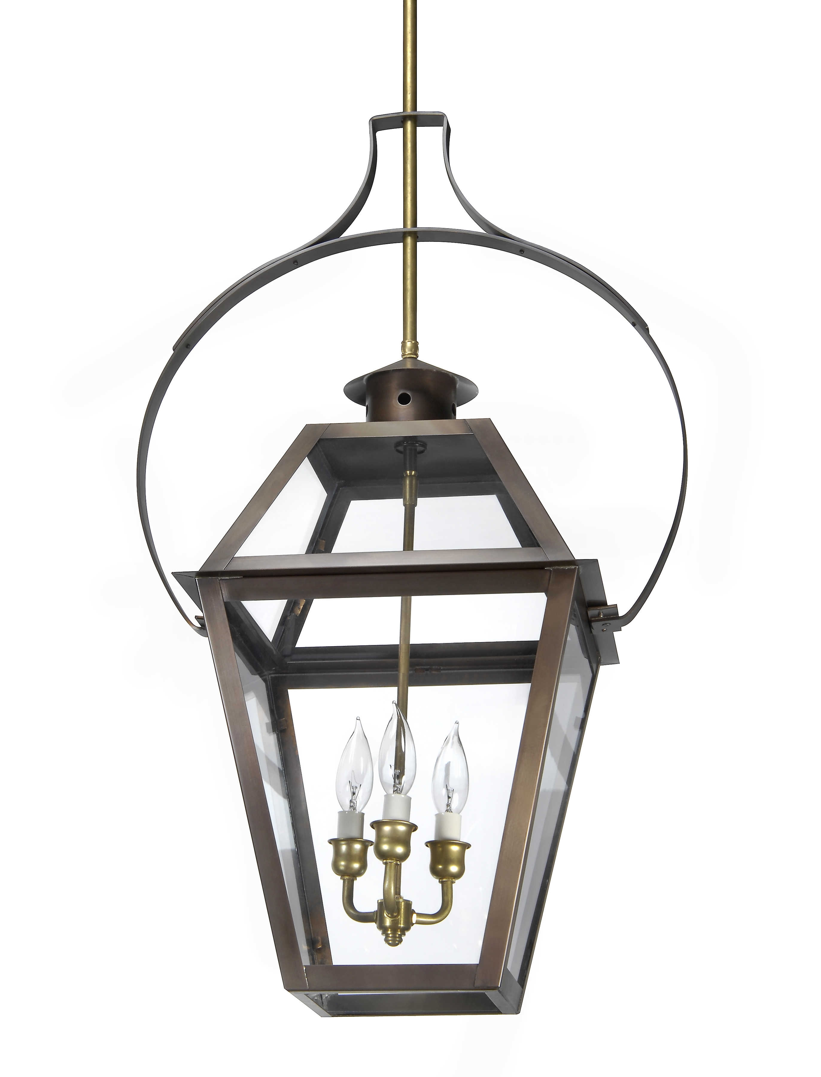 Ch 23 Hanging Yoke Light– Lantern & Scroll Within Favorite Copper Outdoor Electric Lanterns (View 5 of 20)