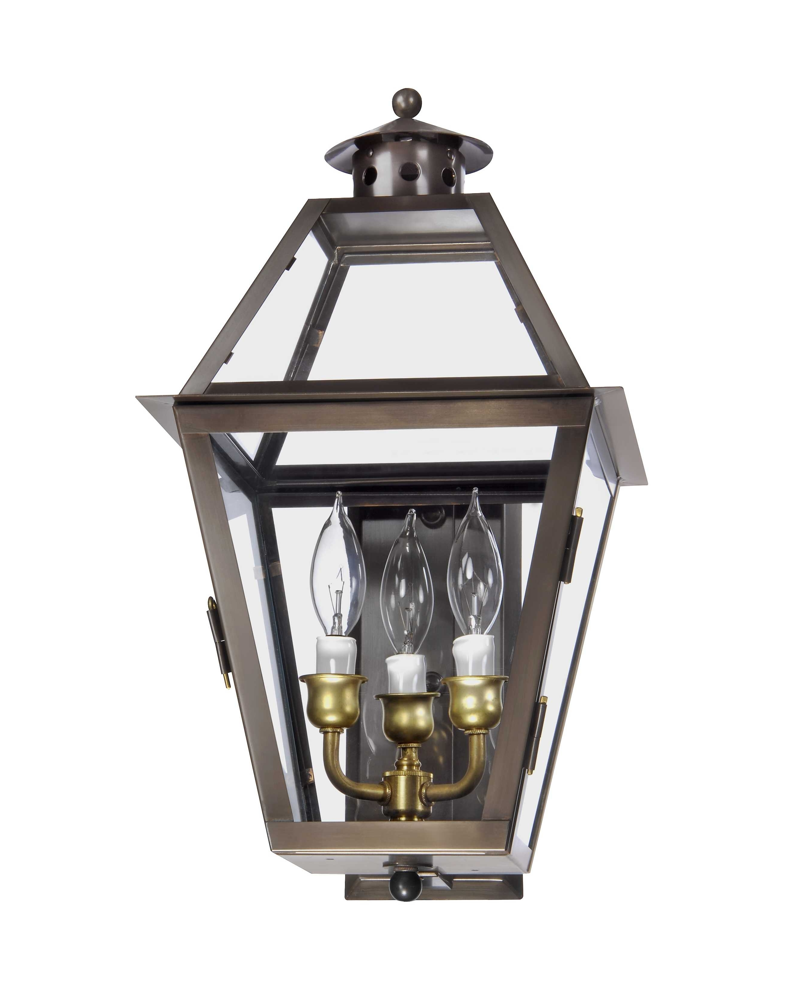 Ch 27 Wall Mount Gas Lantern – Lantern & Scroll With Regard To Outdoor Electric Lanterns (Gallery 2 of 20)