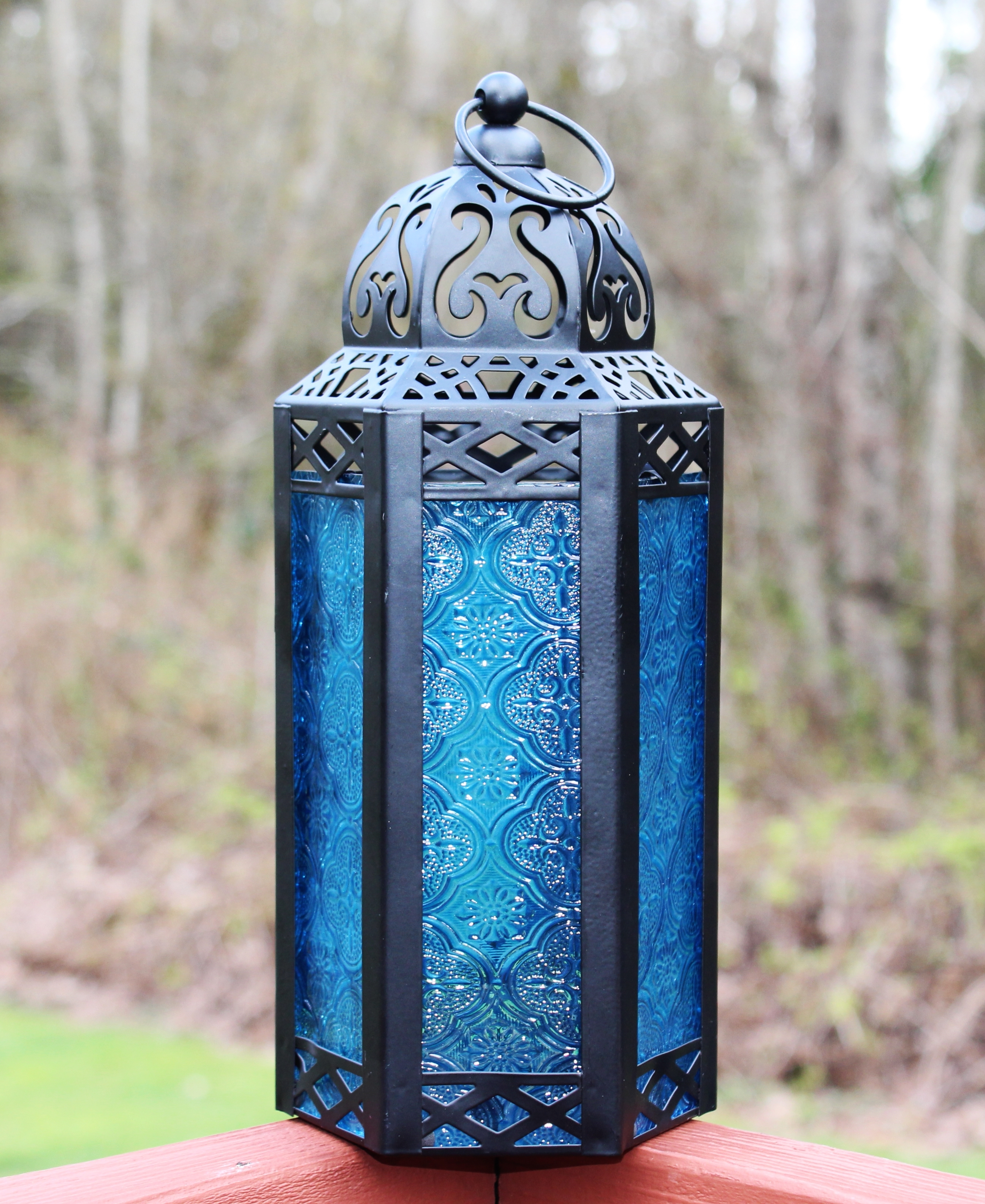 Cheap Moroccan Lanterns Throughout Most Recent Blue Outdoor Lanterns (View 2 of 20)