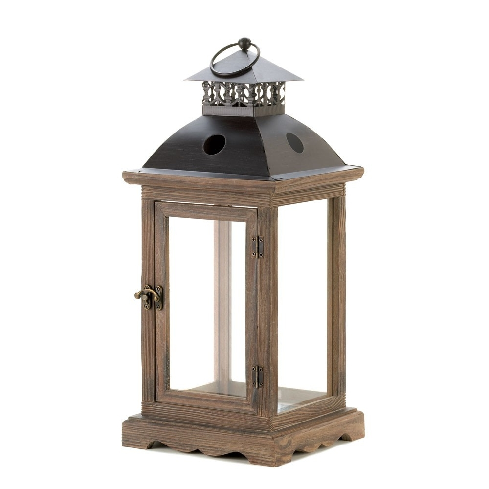 Cheap Outdoor Lanterns In Preferred Decorative Candle Lantern Classy Wooden Set Outdoor Lanterns For (View 7 of 20)