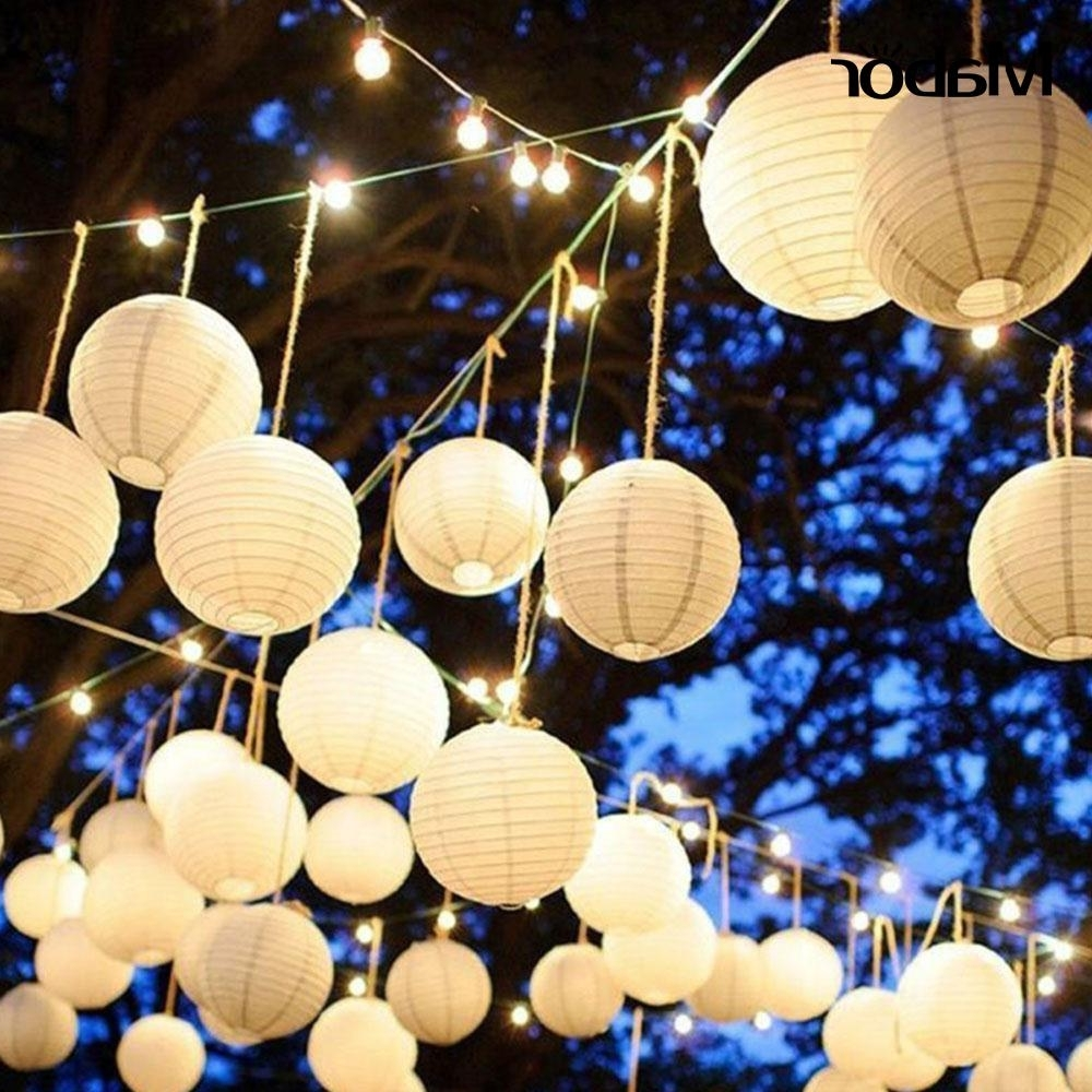 Chinese Lantern Classic Lantern Outdoor Paper Lantern Party Decor For Favorite Outdoor Paper Lanterns (View 1 of 20)