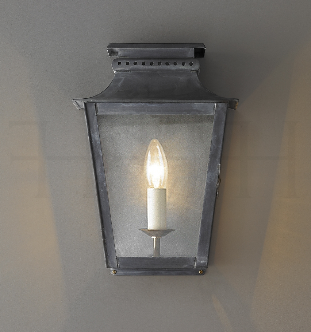 Classical Zeus Zinc Outdoor Wall Lantern Regarding Latest Zinc Outdoor Lanterns (Gallery 2 of 20)