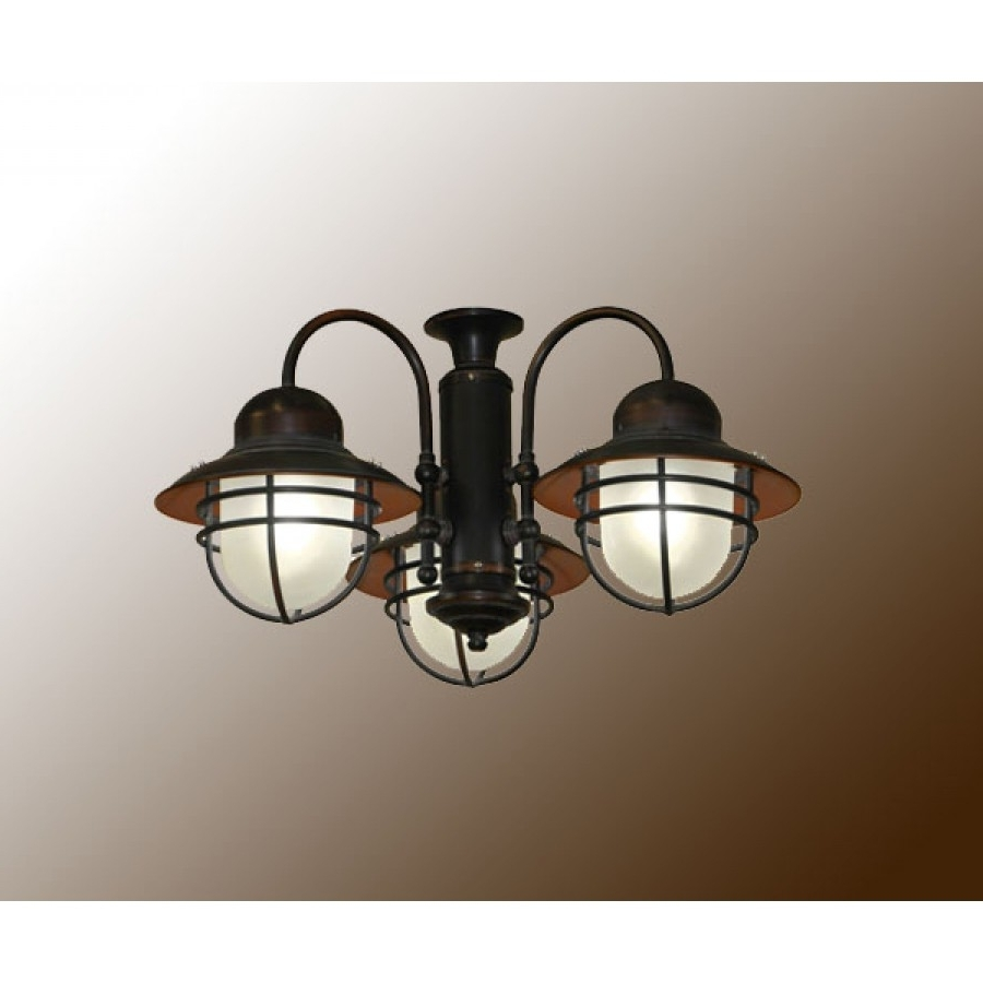 Coastal Outdoor Ceiling Fans Throughout Well Known 362 Nautical Outdoor Ceiling Fan Light (View 9 of 20)