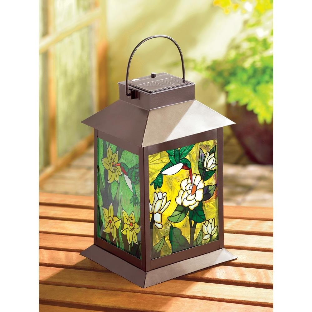 Colorful Outdoor Lanterns Pertaining To Most Recent Solar Powered Floral Lantern – Nowa's Marketplace (View 11 of 20)