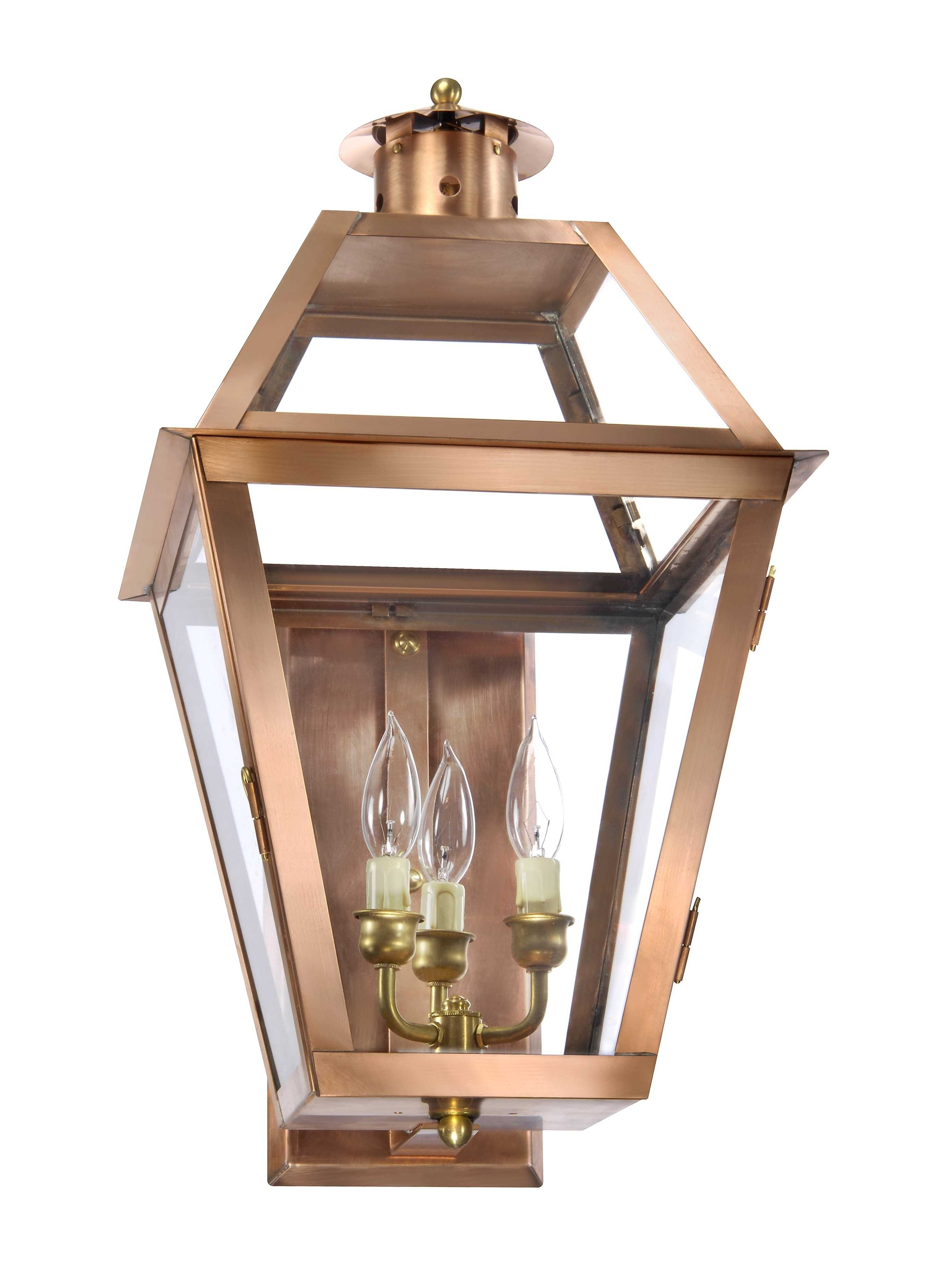 Copper Exterior Lighting – Lantern & Scroll Intended For Copper Outdoor Lanterns (View 5 of 20)
