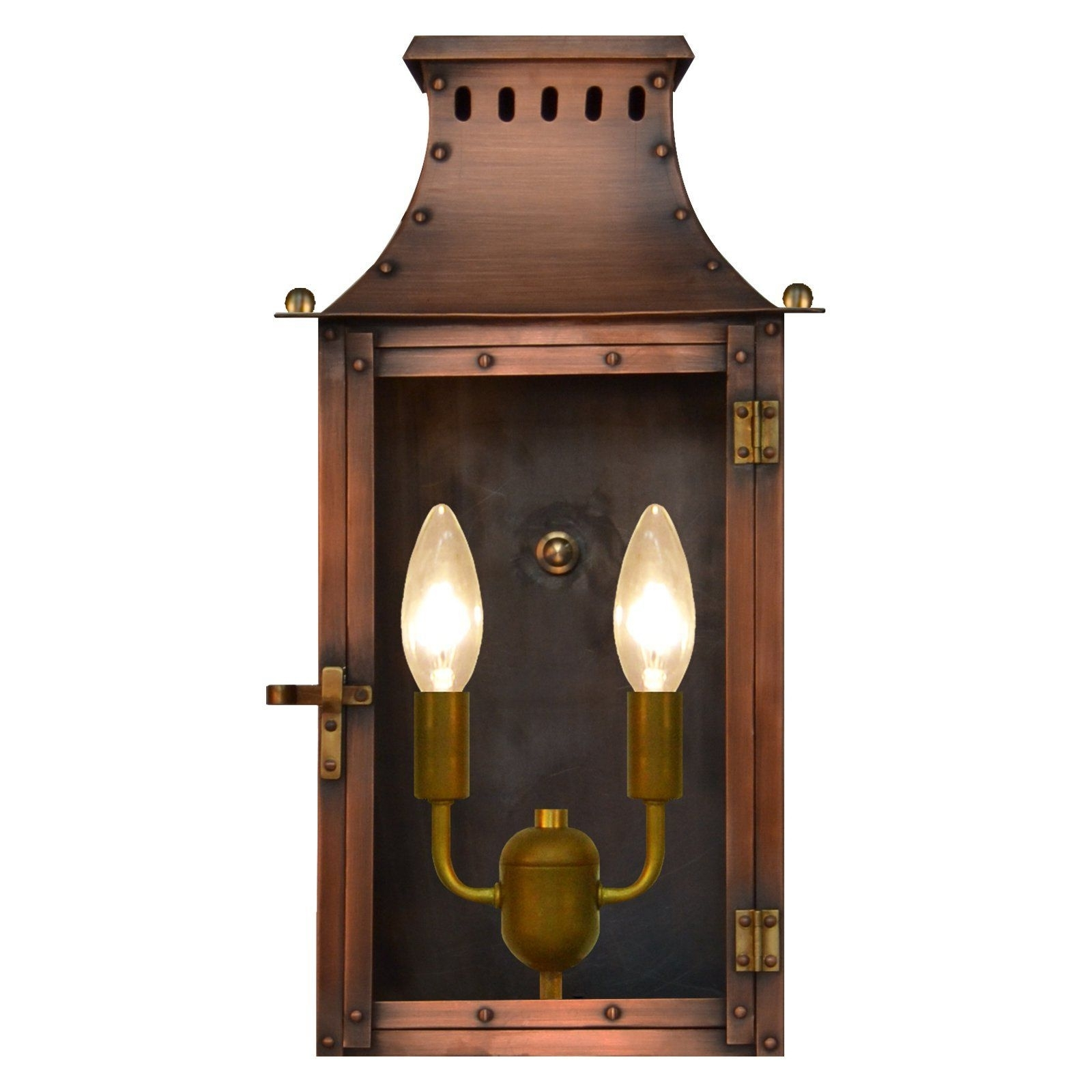 Copper Outdoor Electric Lanterns In Most Recent The Coppersmith York Town Yk Outdoor Flush Mount Lantern – Yk 16e (View 12 of 20)