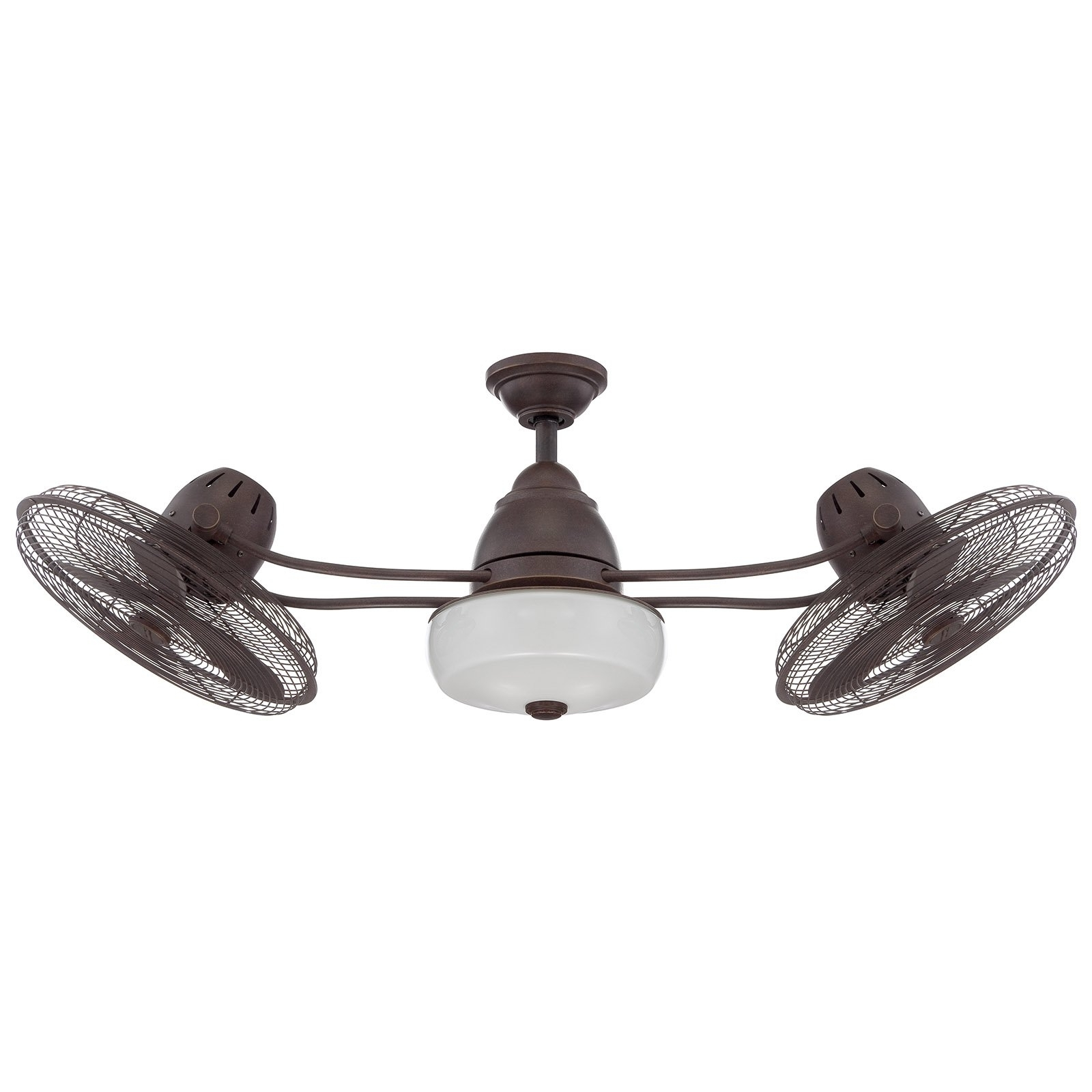 Craftmade Bellows Ii Bw248Ag6 48 In. Indoor/outdoor Dual Oscillating In Most Recent Dual Outdoor Ceiling Fans With Lights (Gallery 9 of 20)