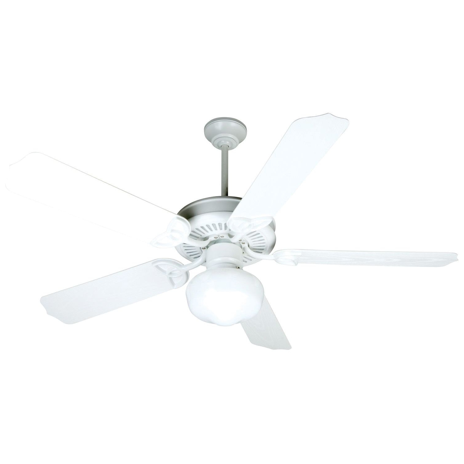Craftmade Opxl52w Heavy Duty Traditional Ceiling Fan 52 Inch White 5 In Fashionable Heavy Duty Outdoor Ceiling Fans (View 15 of 20)