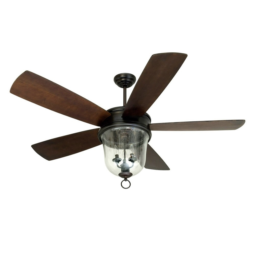 Craftmade Outdoor Ceiling Fans Craftmade Throughout Well Liked Fredericksburg Indoor/outdoor Craftmade Ceiling Fan Fb60Obg5 – Oiled (View 6 of 20)