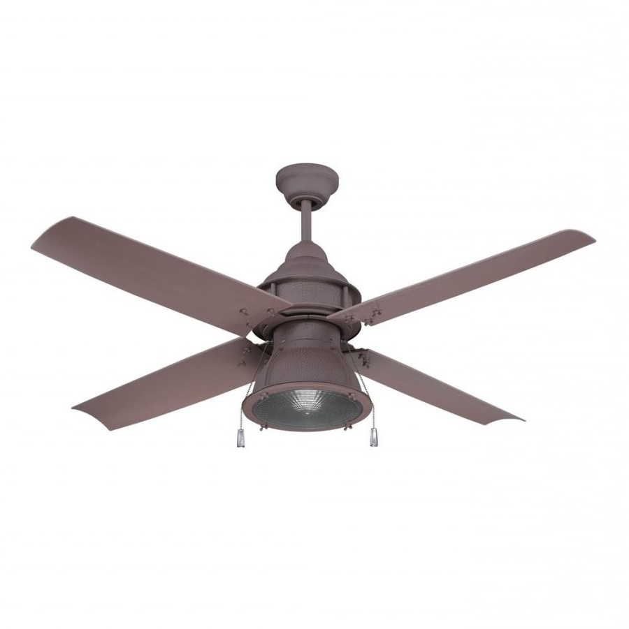 Craftmade Par52Ri4 Port Arbor 1 Led Light 52 Inch Outdoor Ceiling For Well Known Rustic Outdoor Ceiling Fans (View 2 of 20)