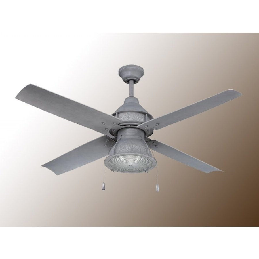 Craftmade Port Arbor Ceiling Fan – 3 Finish Choices – Par52ri4 For Well Known Galvanized Outdoor Ceiling Fans (View 12 of 20)
