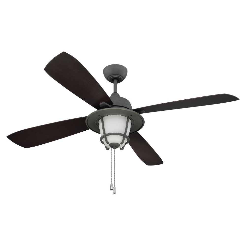 Craftsman Outdoor Ceiling Fans Within 2018 Captivating Outdoor Fan With Light Abs And Metal Material Dark (View 11 of 20)
