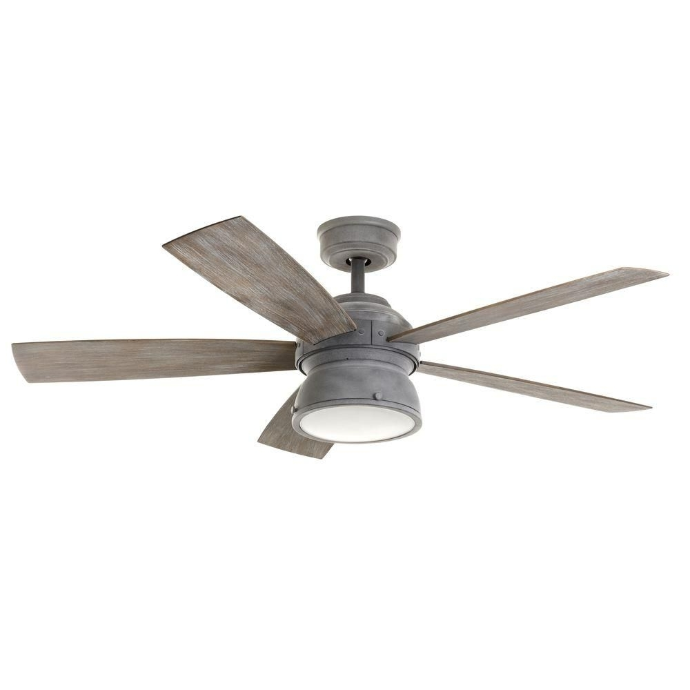 Current Grey Outdoor Ceiling Fans Pertaining To Home Decorators Collection 52 In (View 4 of 20)