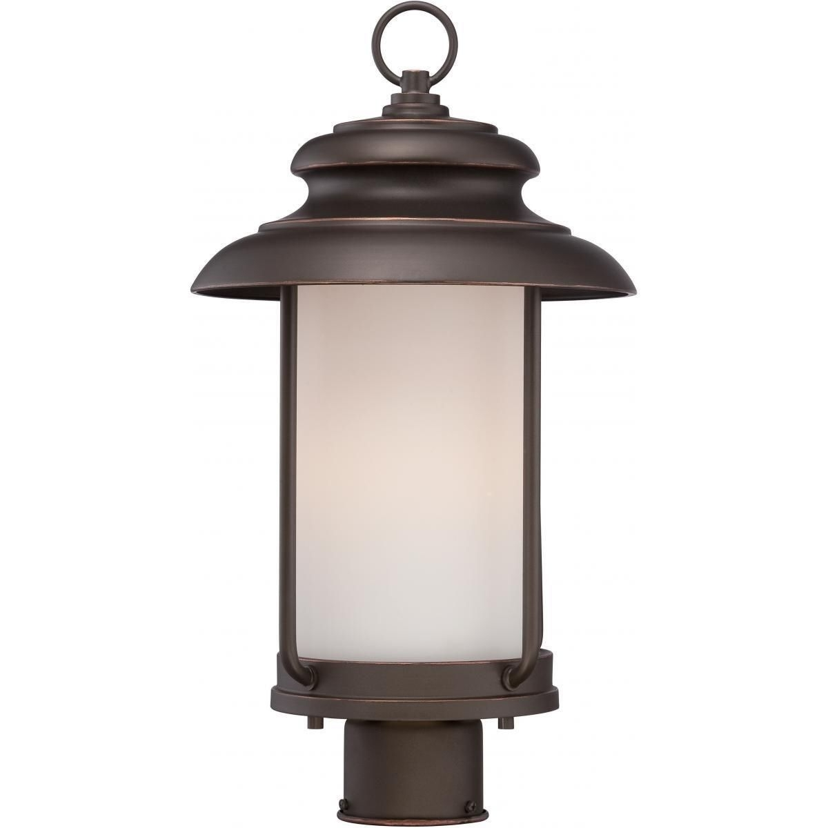 Current Led Outdoor Lanterns With Nuvo Lighting Bethany Led Outdoor Post (Mahogany (Brown) Bronze (View 18 of 20)