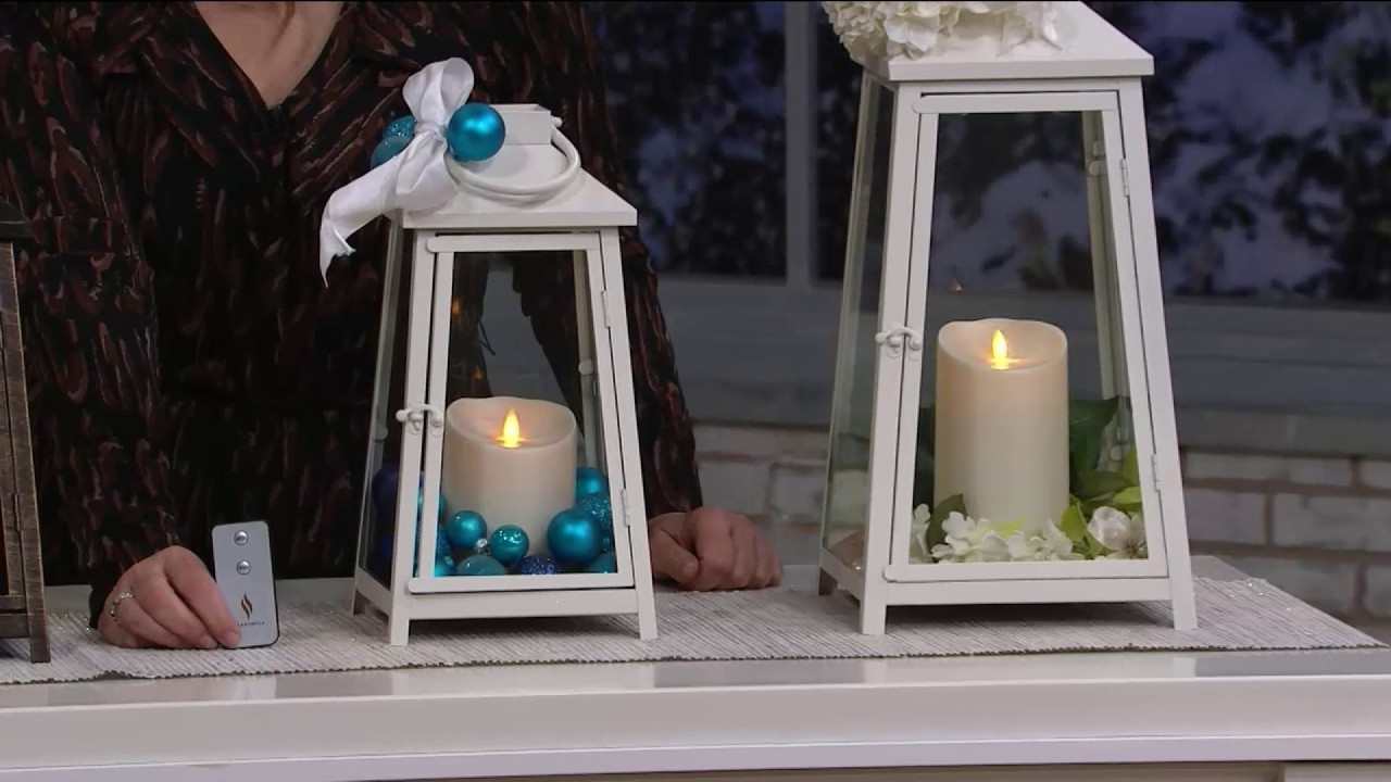 Current Luminara Hampton Indoor Outdoor Lantern With Flameless Candle Pertaining To Outdoor Luminara Lanterns (View 8 of 20)