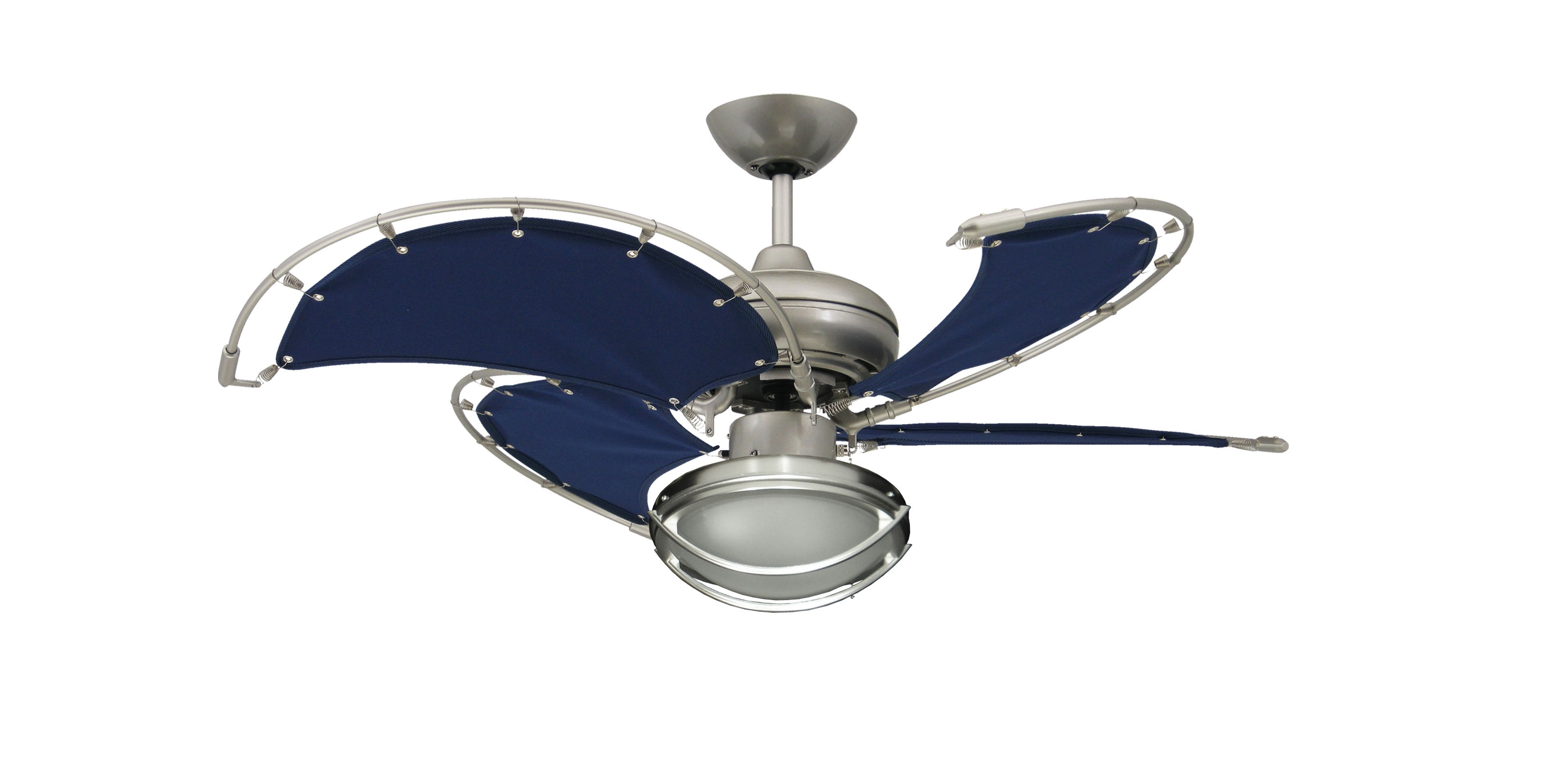 Current Nickel Outdoor Ceiling Fans With Regard To Awesome Outdoor Brushed Nickel Ceiling Fan Is Rated For Damp (View 2 of 20)