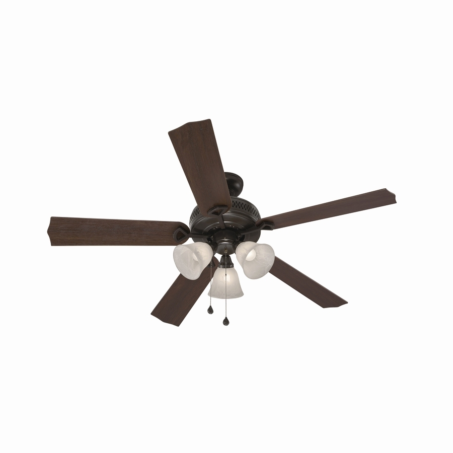 Current Outdoor Ceiling Fans With Long Downrod With Outdoor Ceiling Fans With Lights Fresh Shop Harbor Breeze Barnstaple (View 11 of 20)
