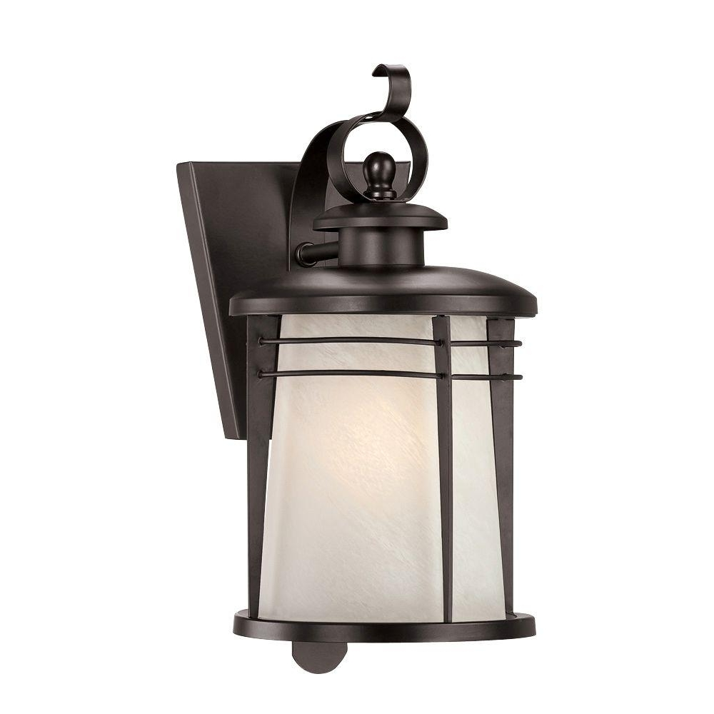 Current Outdoor Lanterns Lights With Westinghouse Senecaville Wall Mount 1 Light Weathered Bronze Outdoor (View 15 of 20)