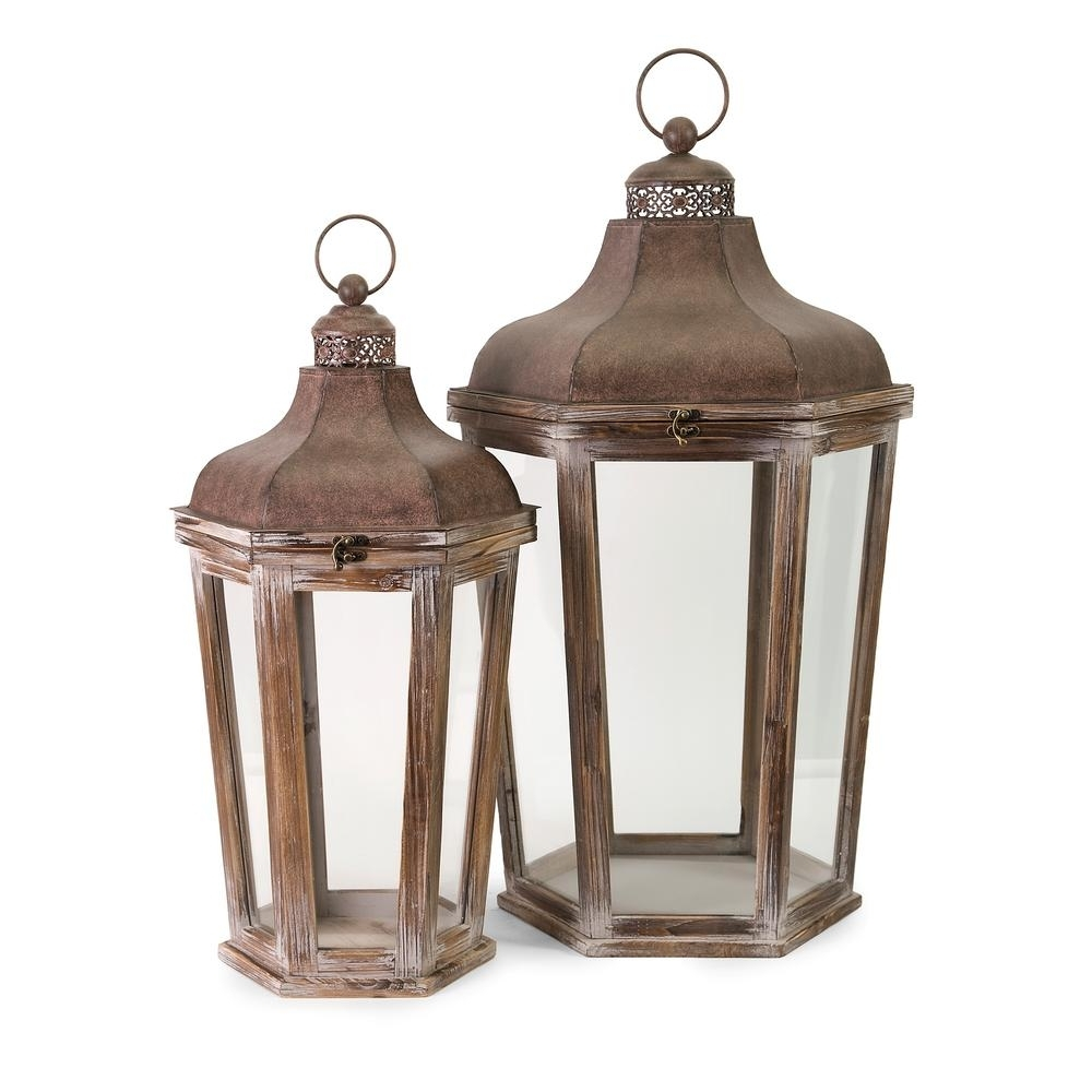 Current Outdoor Oversized Lanterns Intended For Layla Oversized Lanterns (2 Pack) 89020 2 – The Home Depot (View 9 of 20)