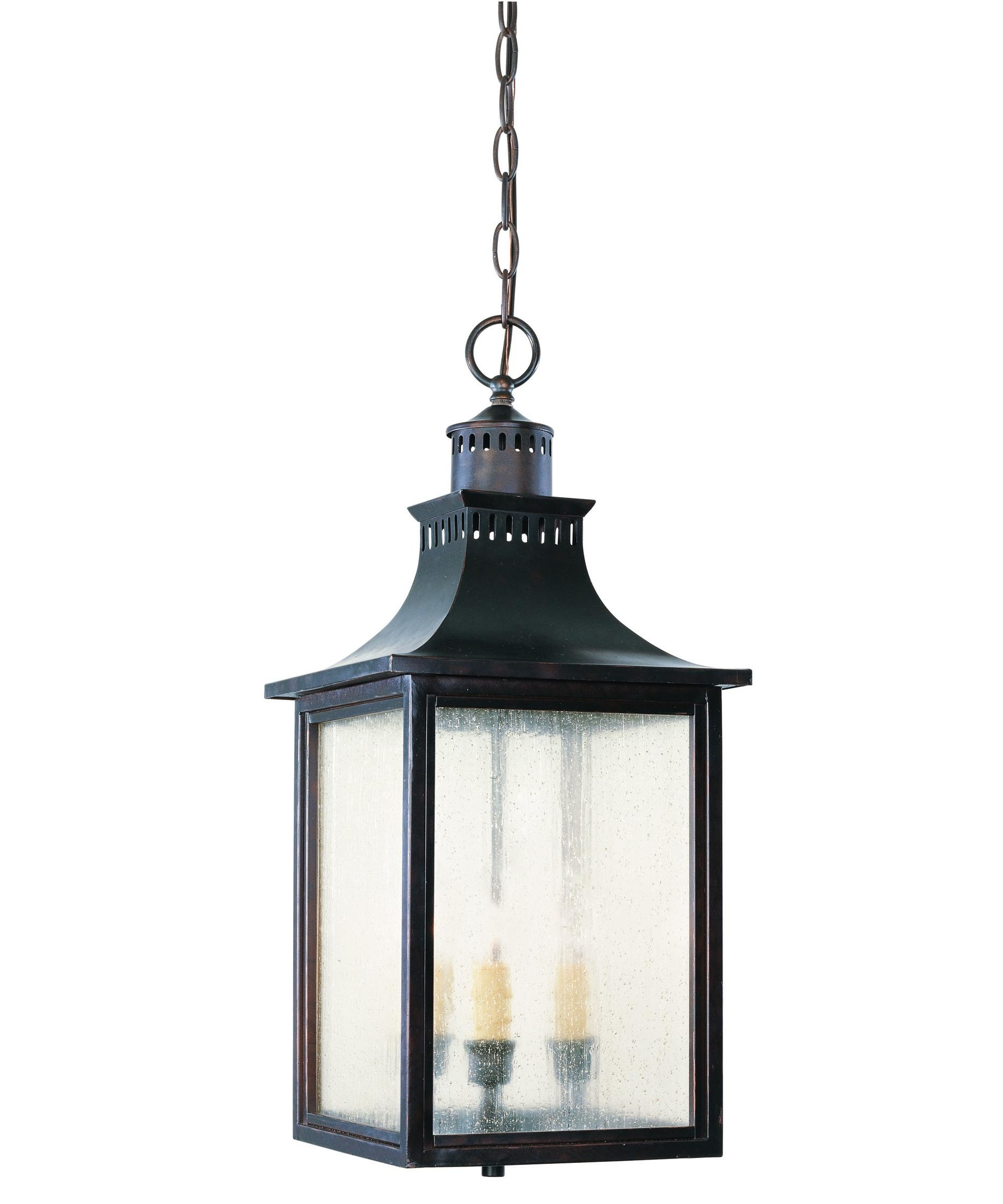 Current Rustic Outdoor Electric Lanterns Intended For Savoy House 5 256 Monte Grande 10 Inch Wide 3 Light Outdoor Hanging (View 9 of 20)