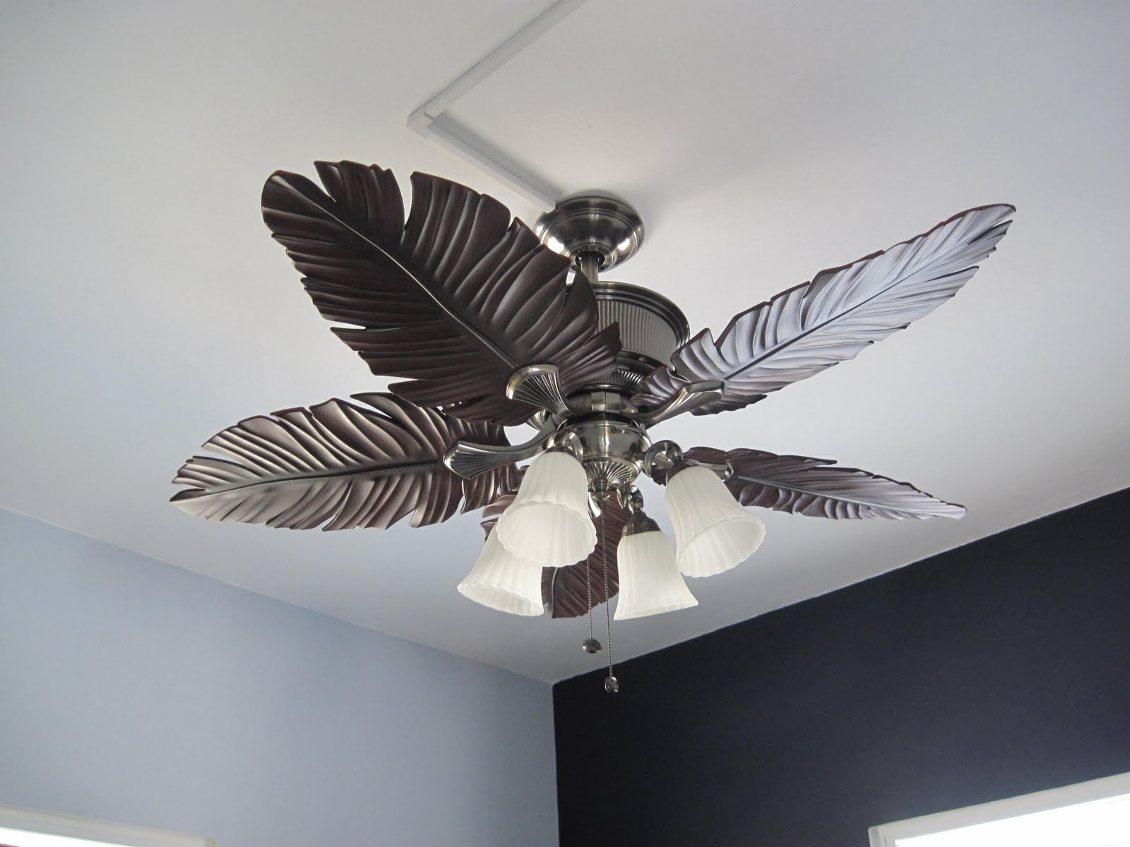 Current Tropical Design Outdoor Ceiling Fans With Ceiling Lights : Tropical Ceiling Fans With Lights For Low Ceilings (View 15 of 20)