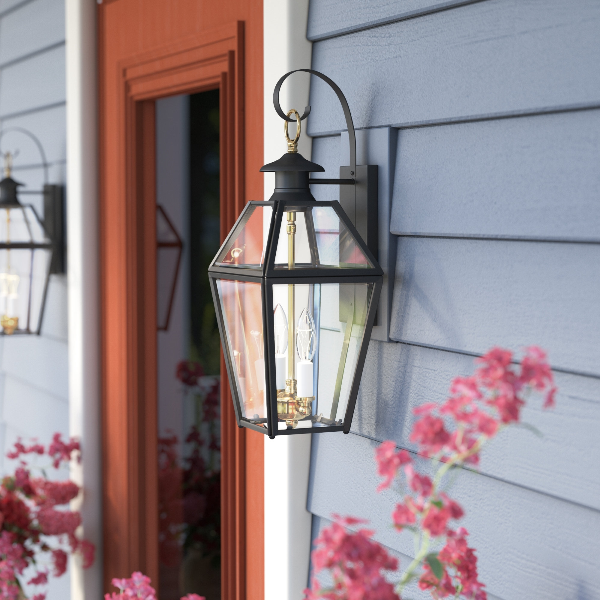 Darby Home Co Alam 2 Light Outdoor Wall Lantern & Reviews (Gallery 16 of 20)