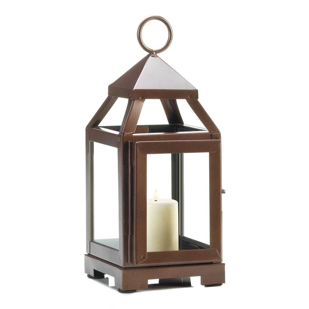 Decorative Lanterns For Candles, Patio Copper Mini Metal Candle Within Trendy Outdoor Metal Lanterns For Candles (Gallery 13 of 20)