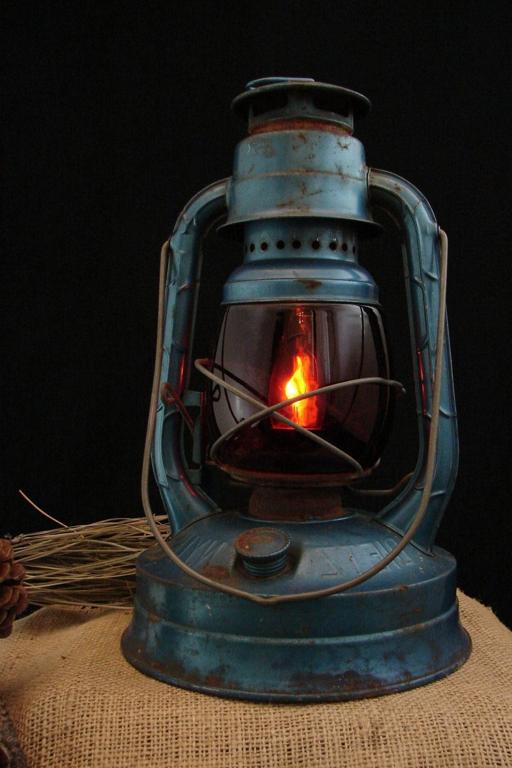 Decorative Outdoor Kerosene Lanterns Inside Most Popular Reserved For Flavia / Upcycled Vintage Blue Dietz Kerosene Lantern (View 5 of 20)